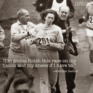 Kathrine Switzer fue la primer mujer en competir en la maratón de Boston