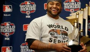 """""""El Panda"""" Sandoval quiere su tercer anillo de Serie Mundial."""