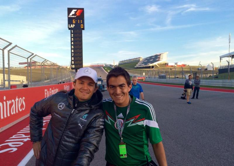 A picture with Nico Rosberg was probably one of the highlights.