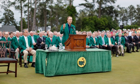He now joins a very select club of golfers who have won the Masters