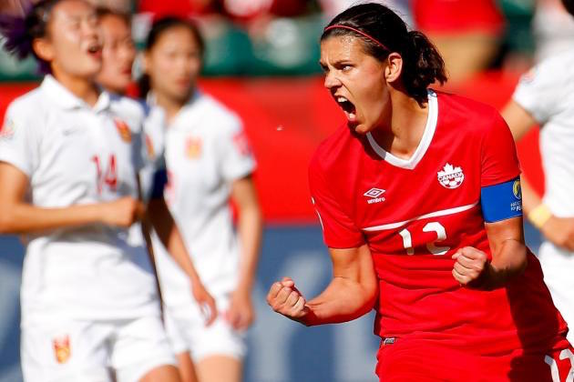 Christine Sinclair scored the late goal in the opening game of the Women's World Cup.