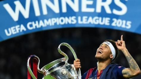 Neymar won his first Champions League title after his second season with Barcelona.