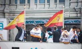 El Real Madrid saluda a su afición (Foto: Daisy Serracin)